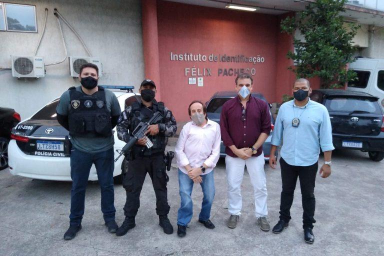 Legenda: Ganime visita o Instituto de Identificação Félix Pacheco.