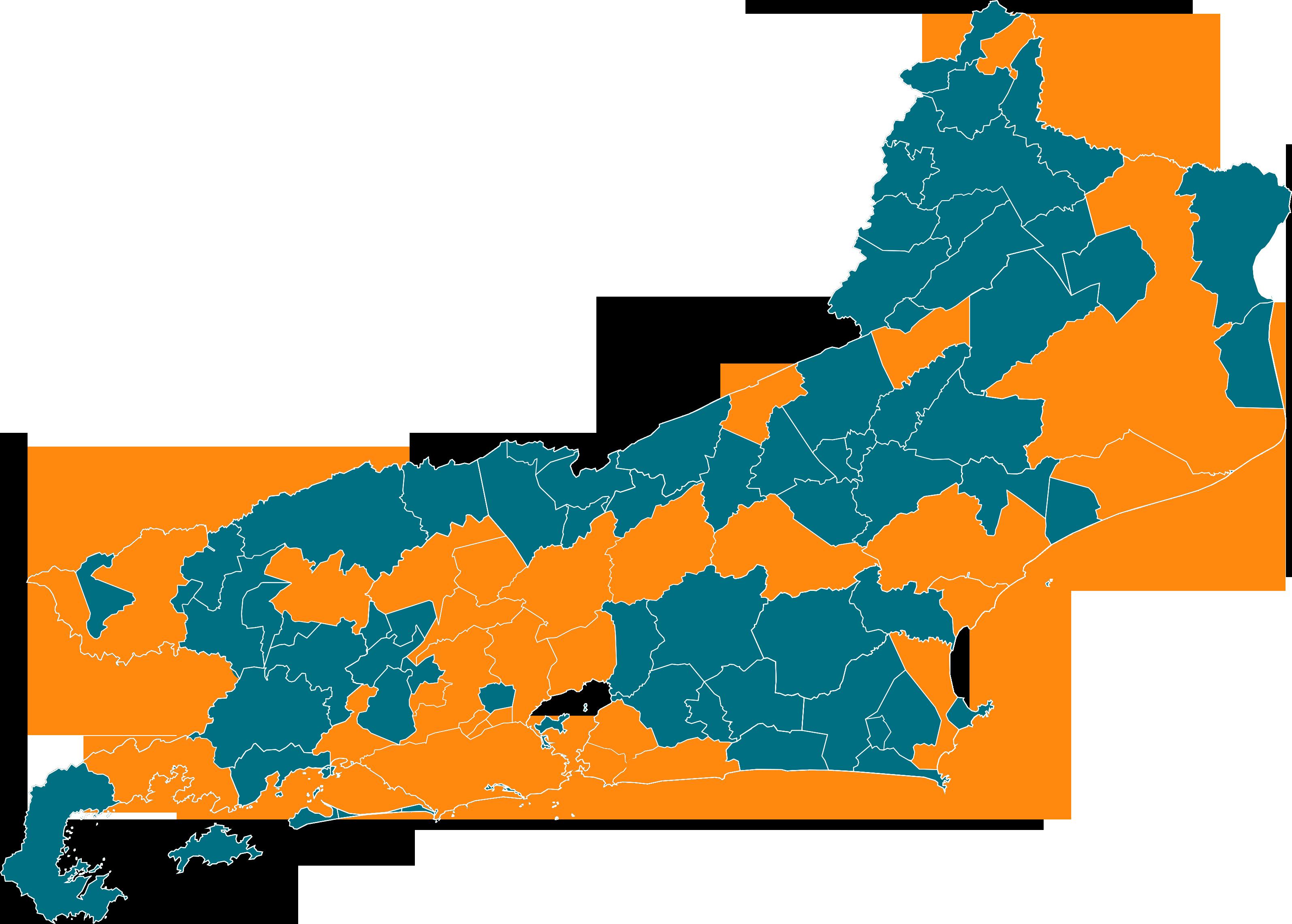 Mapa juntos (29 municípios)